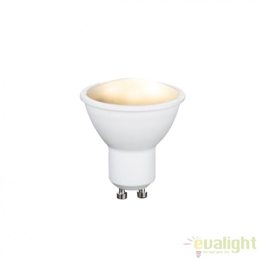 Set 2 becuri cu telecomanda dimmabil GU10 RGB LED 3,5W, 200Lm 106752-2 GL, Becuri GU10, GU4, GU3,5, Corpuri de iluminat, lustre, aplice, veioze, lampadare, plafoniere. Mobilier si decoratiuni, oglinzi, scaune, fotolii. Oferte speciale iluminat interior si exterior. Livram in toata tara.  a