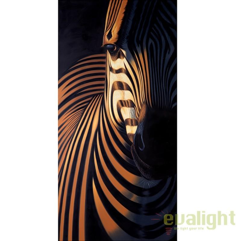 Tablou decorativ, pictura realizata pe panza Zebra I 75x150cm A-10887 VC, PROMOTII,  a