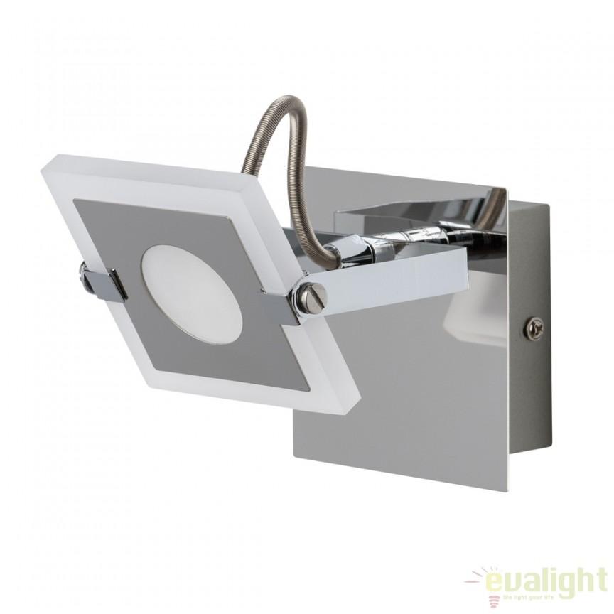 Aplica de perete cu 1 spot LED directionabil Nasrin 675021001 MW, Aplice de perete LED, Corpuri de iluminat, lustre, aplice, veioze, lampadare, plafoniere. Mobilier si decoratiuni, oglinzi, scaune, fotolii. Oferte speciale iluminat interior si exterior. Livram in toata tara.  a