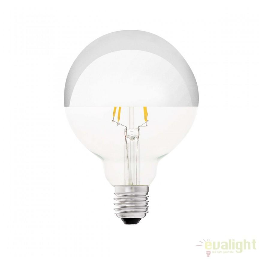 Bec LED decorativ G95 MIRROR E27 4W 2700K 17271 Faro Barcelona , PROMOTII, Corpuri de iluminat, lustre, aplice, veioze, lampadare, plafoniere. Mobilier si decoratiuni, oglinzi, scaune, fotolii. Oferte speciale iluminat interior si exterior. Livram in toata tara.  a