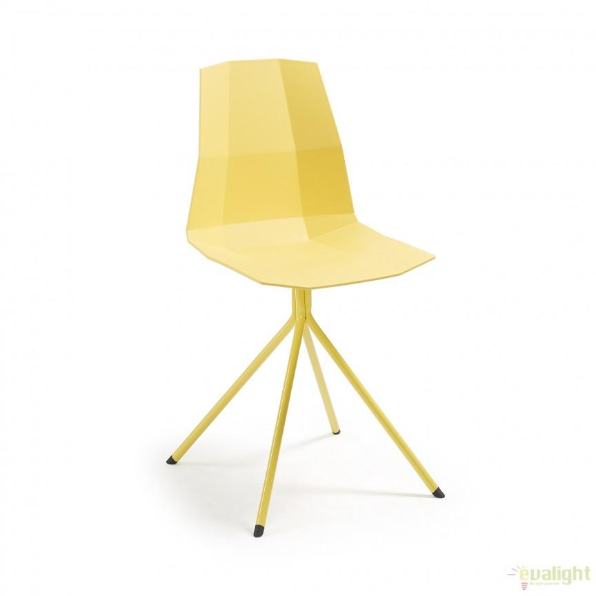 Scaun design modern minimalist PIXEL galben CC0237S31 JG, Corpuri de iluminat, lustre, aplice, veioze, lampadare, plafoniere. Mobilier si decoratiuni, oglinzi, scaune, fotolii. Oferte speciale iluminat interior si exterior. Livram in toata tara.
