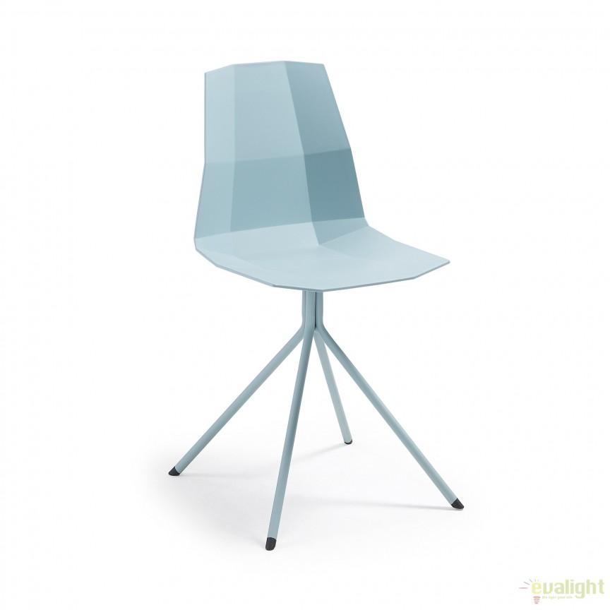 Scaun design modern minimalist PIXEL albastru CC0237S27 JG, Corpuri de iluminat, lustre, aplice, veioze, lampadare, plafoniere. Mobilier si decoratiuni, oglinzi, scaune, fotolii. Oferte speciale iluminat interior si exterior. Livram in toata tara.