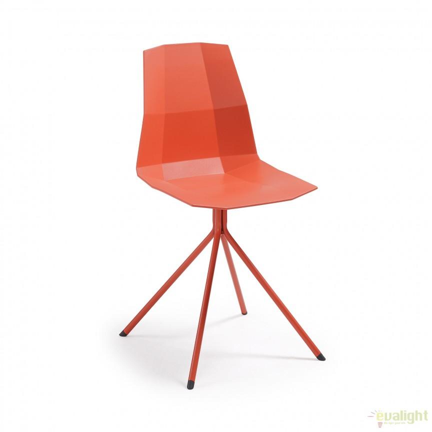 Scaun design modern minimalist PIXEL rosu CC0237S04 JG, Corpuri de iluminat, lustre, aplice, veioze, lampadare, plafoniere. Mobilier si decoratiuni, oglinzi, scaune, fotolii. Oferte speciale iluminat interior si exterior. Livram in toata tara.