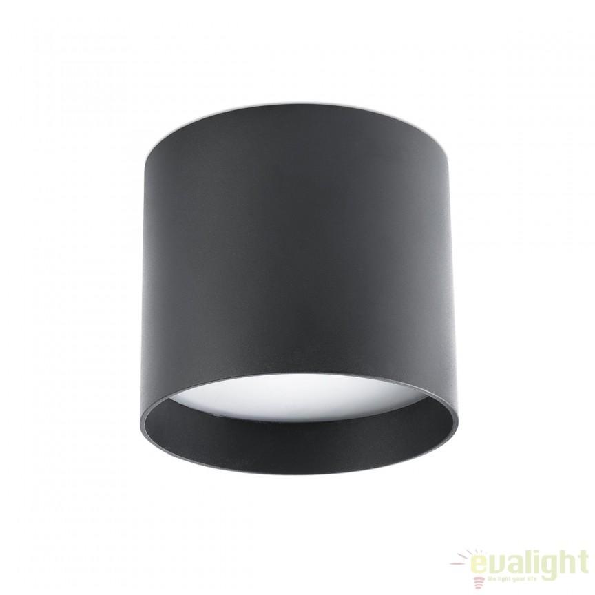 Plafoniera LED design modern minimalist NATSU neagra 64205 Faro Barcelona , Spoturi incastrate, aplicate - tavan / perete, Corpuri de iluminat, lustre, aplice, veioze, lampadare, plafoniere. Mobilier si decoratiuni, oglinzi, scaune, fotolii. Oferte speciale iluminat interior si exterior. Livram in toata tara.  a