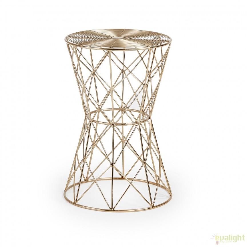 Masuta laterala din tije metalice design Art Deco IONE AA0907R53 JG, PROMOTII, Corpuri de iluminat, lustre, aplice, veioze, lampadare, plafoniere. Mobilier si decoratiuni, oglinzi, scaune, fotolii. Oferte speciale iluminat interior si exterior. Livram in toata tara.  a