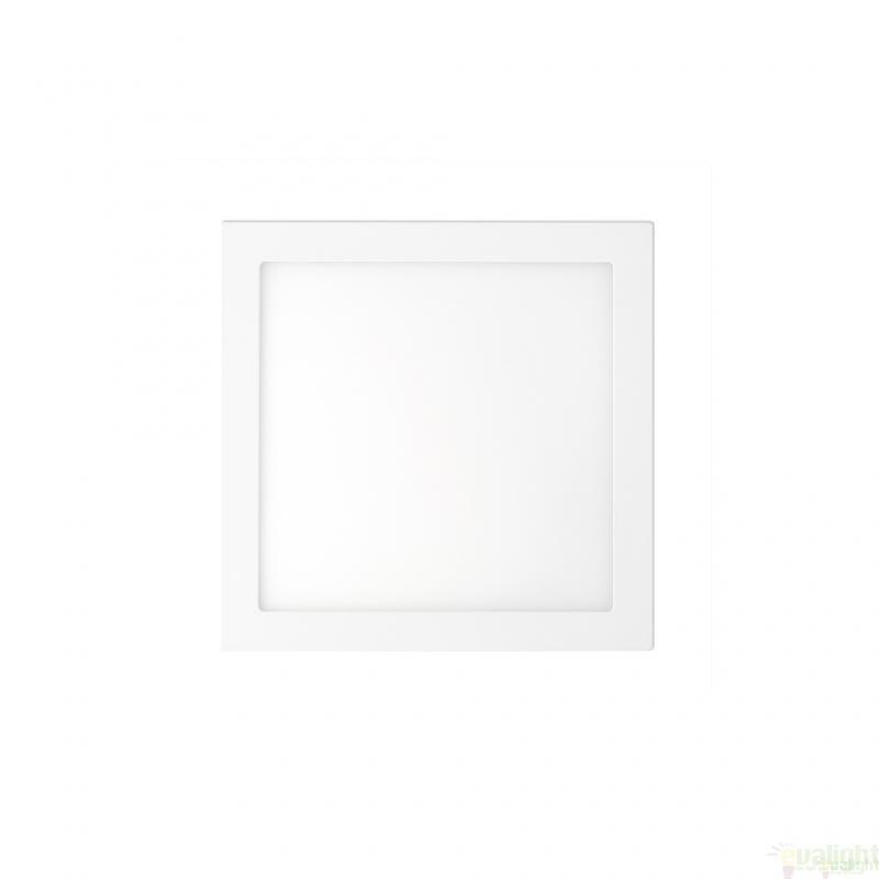 Plafonier, spot alb incastrabil, dim. 12x12cm, 6W cold light, FONT LED 42847 Faro Barcelona , Spoturi LED incastrate, aplicate, Corpuri de iluminat, lustre, aplice a