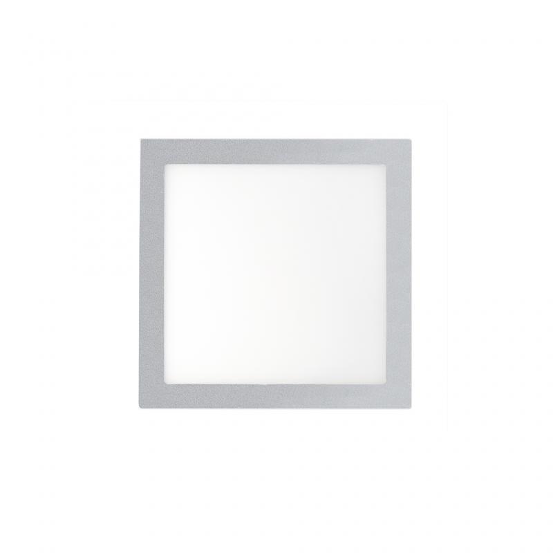 Plafonier, spot gri incastrabil, dim. 12x12cm, 6W warm light, FONT LED 42848 Faro Barcelona , Spoturi LED incastrate, aplicate, Corpuri de iluminat, lustre, aplice a