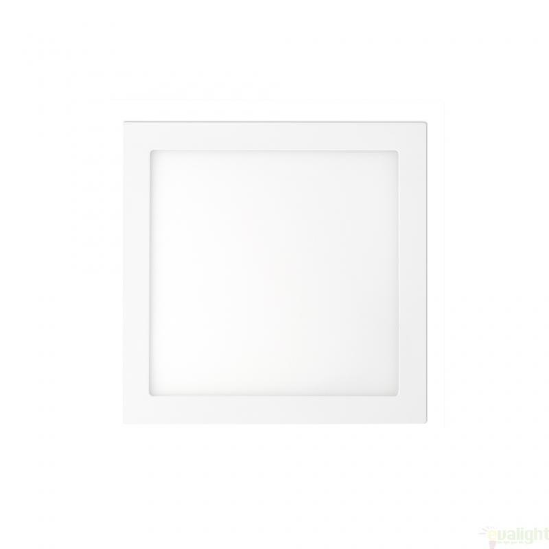 Plafonier, spot alb incastrabil, dim. 17x17cm, 12W cold light , FONT LED 42851 Faro Barcelona , Spoturi incastrate, aplicate - tavan / perete, Corpuri de iluminat, lustre, aplice a
