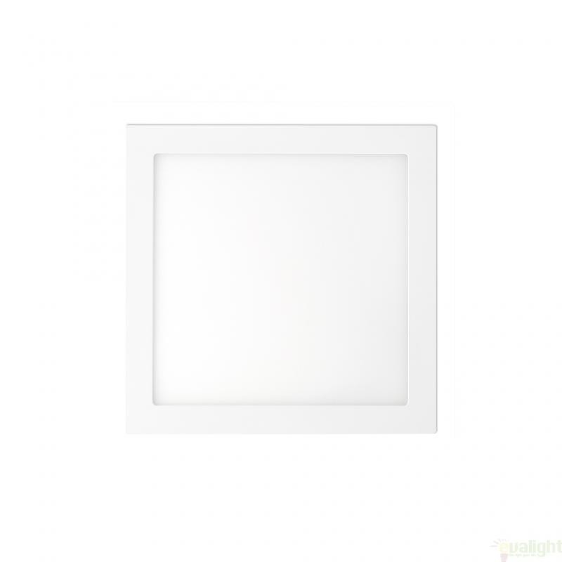 Plafonier, spot alb incastrabil, dim. 17x17cm, 12W cold light , FONT LED 42851 Faro Barcelona , Spoturi incastrate, aplicate - tavan / perete, Corpuri de iluminat, lustre, aplice, veioze, lampadare, plafoniere. Mobilier si decoratiuni, oglinzi, scaune, fotolii. Oferte speciale iluminat interior si exterior. Livram in toata tara.  a