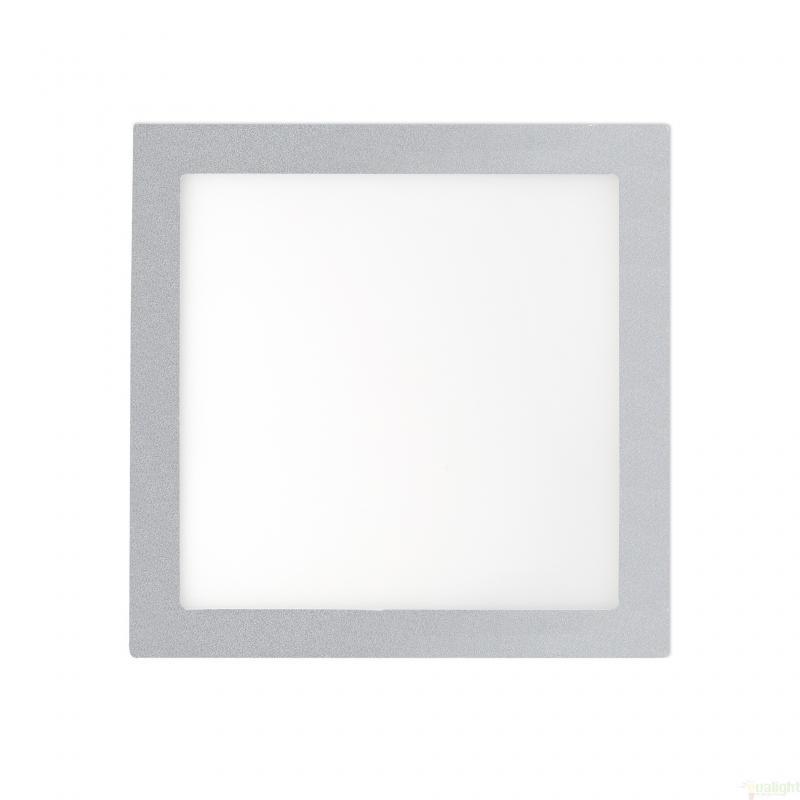 Plafonier, spot gri incastrabil, dim. 22x22cm, 18W warm light, FONT LED 42856, Faro Barcelona , Spoturi LED incastrate, aplicate, Corpuri de iluminat, lustre, aplice a