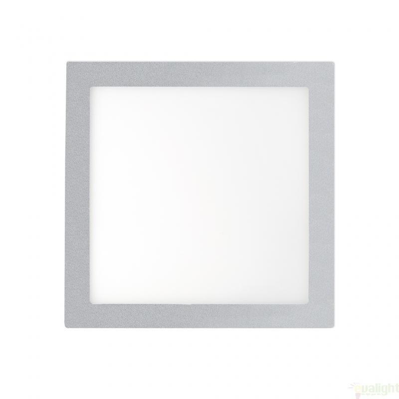 Plafonier, spot gri incastrabil, dim. 22x22cm, 18W cold light, FONT LED 42857 Faro Barcelona , Spoturi LED incastrate, aplicate, Corpuri de iluminat, lustre, aplice a