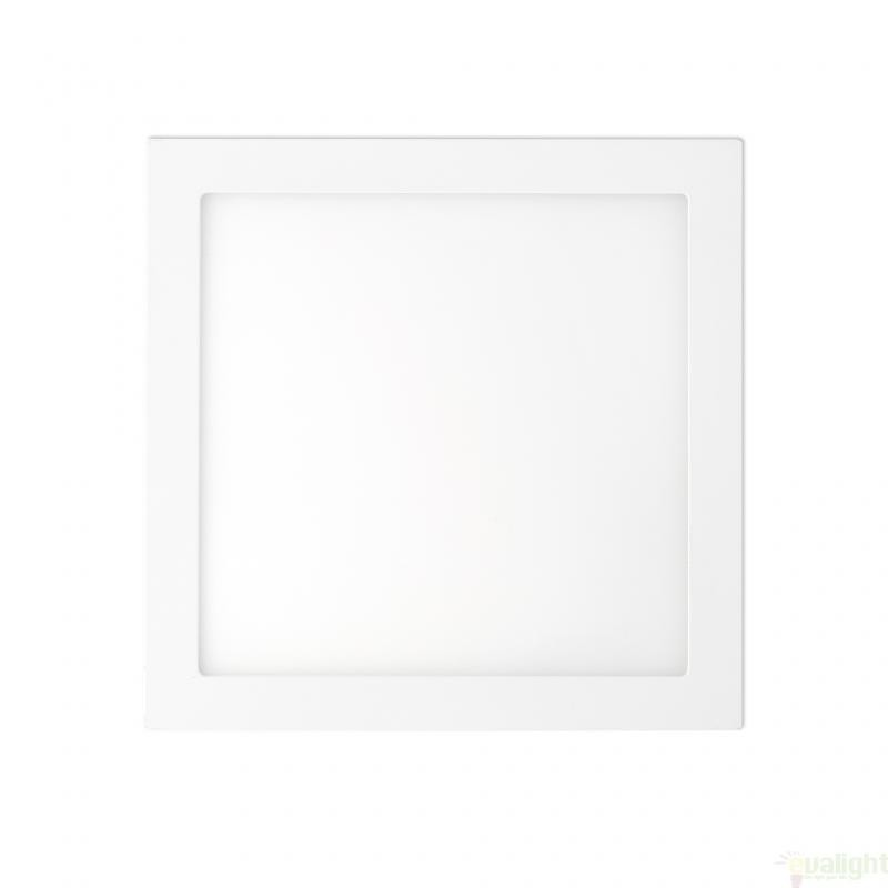 Plafonier, spot alb incastrabil, dim. 30x30cm, 25W cold light, FONT LED 42859 Faro Barcelona , Spoturi LED incastrate, aplicate, Corpuri de iluminat, lustre, aplice a