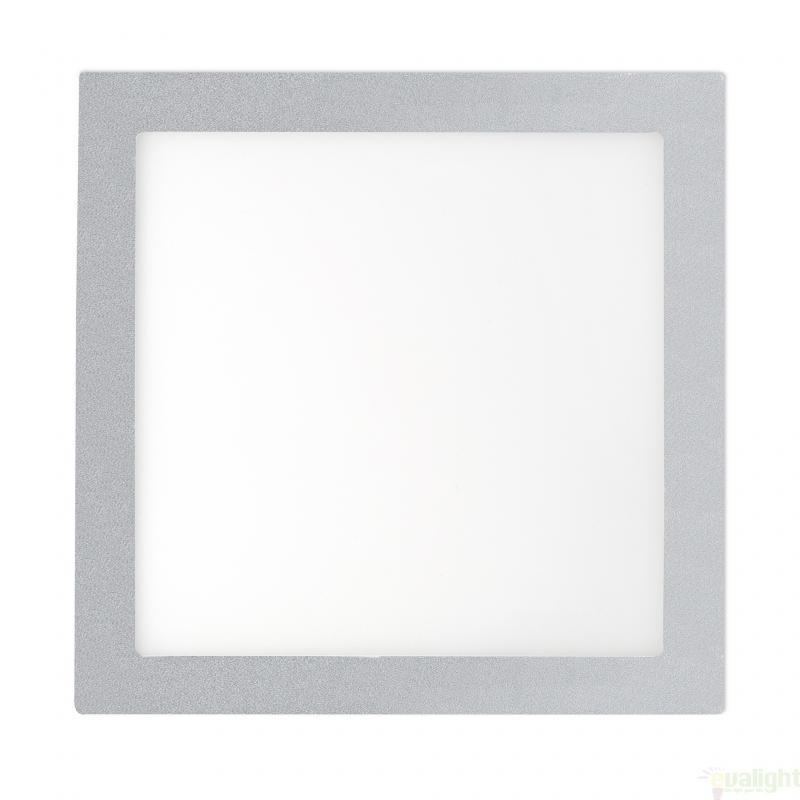 Plafonier, spot gri incastrabil, dim. 30x30cm, 25W warm light , FONT LED 42860, Faro Barcelona , Spoturi LED incastrate, aplicate, Corpuri de iluminat, lustre, aplice a