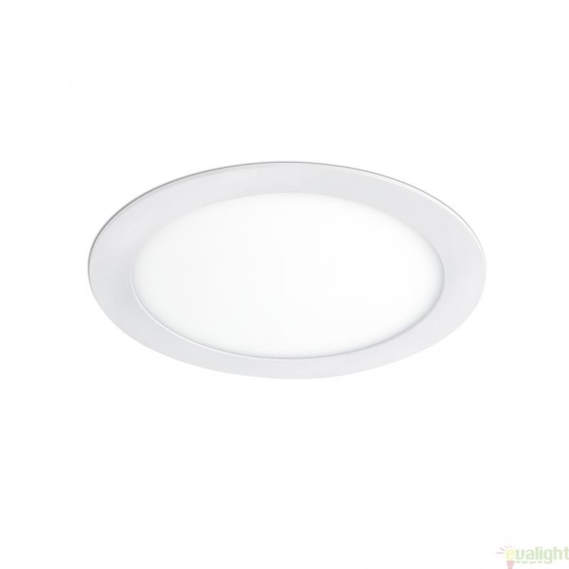Spot alb cu iluminat LED incastrabil, diam. 17 cm,12W cold light , MONT 42867 Faro Barcelona , Spoturi LED incastrate, aplicate, Corpuri de iluminat, lustre, aplice a