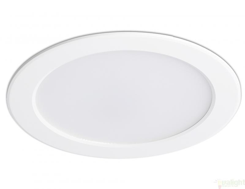 Spot LED alb incastrabil pentru baie cu protectie IP 44, TED 42926 , Cele mai vandute Corpuri de iluminat, lustre, aplice, veioze, lampadare, plafoniere. Mobilier si decoratiuni, oglinzi, scaune, fotolii. Oferte speciale iluminat interior si exterior. Livram in toata tara.  a