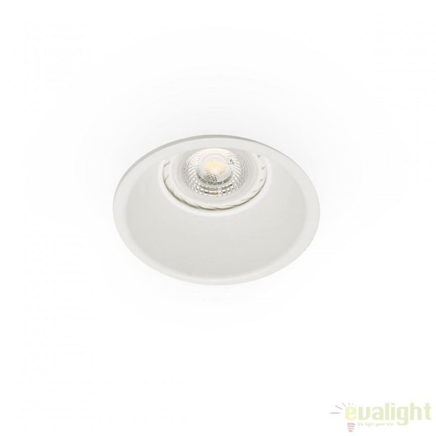 Spot LED incasastrabil GAS alb 43404 Faro Barcelona , Spoturi incastrate, aplicate - tavan / perete, Corpuri de iluminat, lustre, aplice a