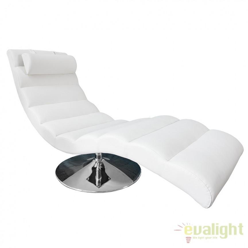 Pat de zi tip sezlong, ergonomic si confortabil, Relaxo alb A-19990 VC, Cele mai noi produse 2017 a