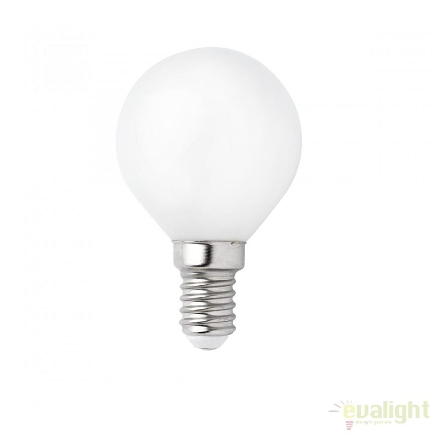 Bec LED G45 MATT E14 4W 2700K 17461 Faro Barcelona, Becuri E14, Corpuri de iluminat, lustre, aplice, veioze, lampadare, plafoniere. Mobilier si decoratiuni, oglinzi, scaune, fotolii. Oferte speciale iluminat interior si exterior. Livram in toata tara.  a