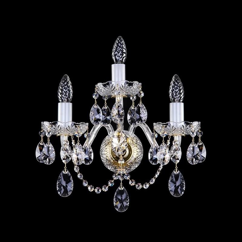 Aplica de perete cu 3 brate cristal Swarovski Spectra LAMIA III. SP, Aplice Cristal Bohemia, Corpuri de iluminat, lustre, aplice, veioze, lampadare, plafoniere. Mobilier si decoratiuni, oglinzi, scaune, fotolii. Oferte speciale iluminat interior si exterior. Livram in toata tara.  a
