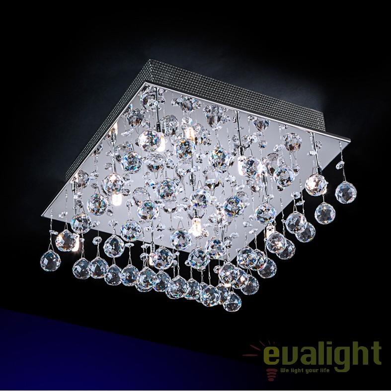 Plafoniera moderna cu cristal Asfour LED ESTRATOS SV-573626G9, Lustre Cristal Asfour 30% PBO, Corpuri de iluminat, lustre, aplice, veioze, lampadare, plafoniere. Mobilier si decoratiuni, oglinzi, scaune, fotolii. Oferte speciale iluminat interior si exterior. Livram in toata tara.  a