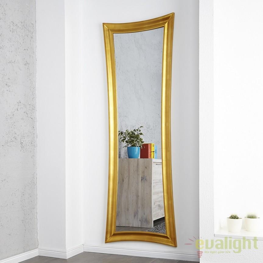 Oglinda de perete decorativa Skinny 180cm auriu antic A-9811 VC