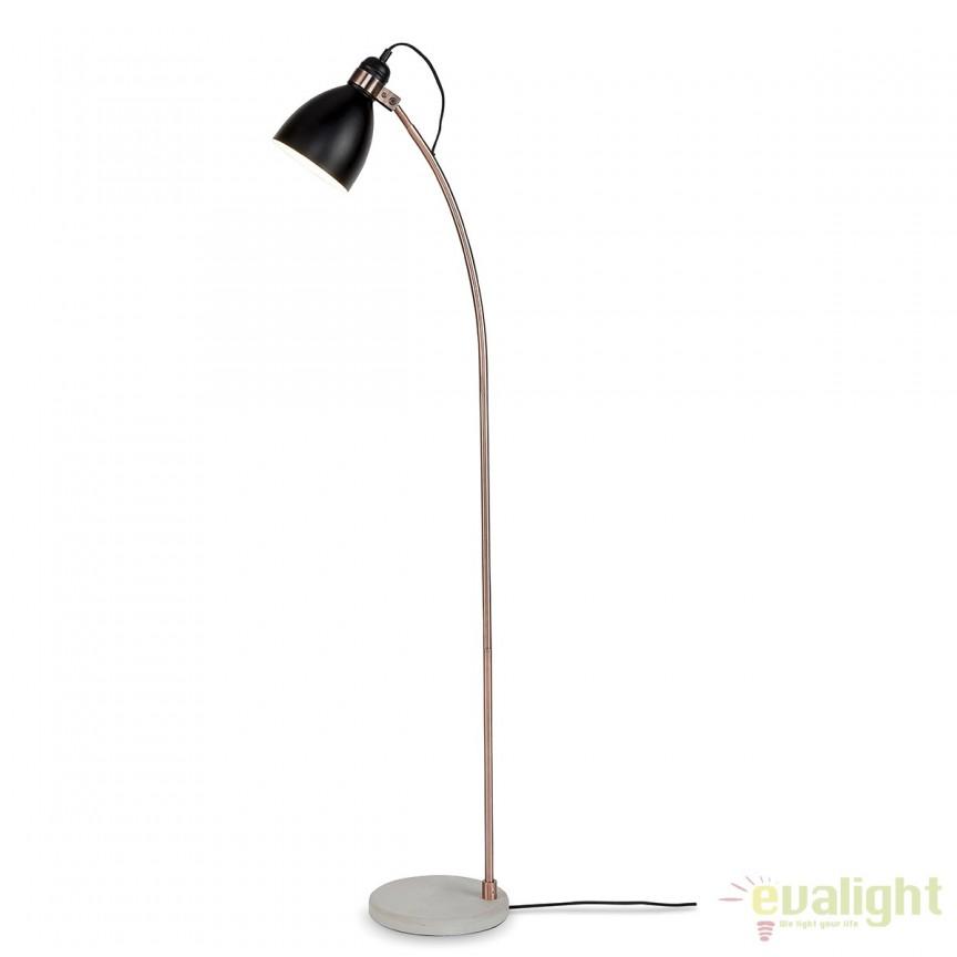 Lampadar elegant cu baza din ciment Denver negru DENVER/F/B, Magazin,  a