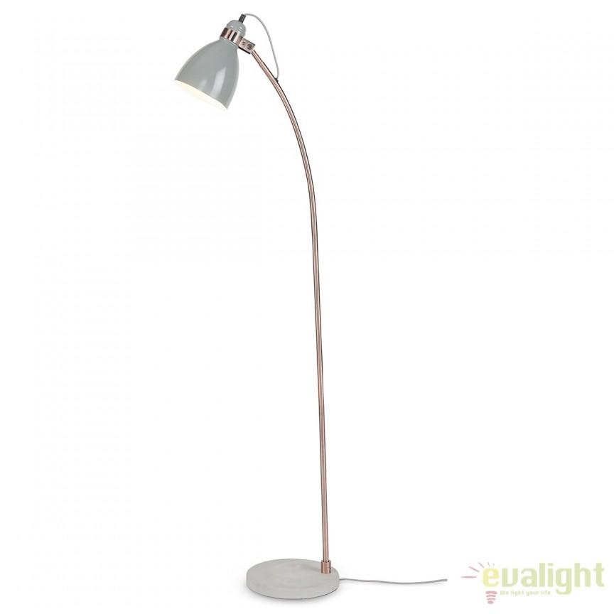 Lampadar elegant cu baza din ciment Denver gri deschis DENVER/F/LG, Magazin,  a