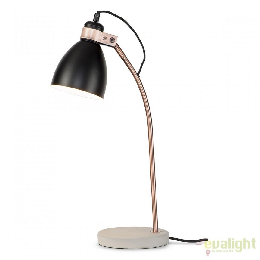 Lampa de masa eleganta cu baza din ciment Denver negru DENVER/T/B, Magazin,  a