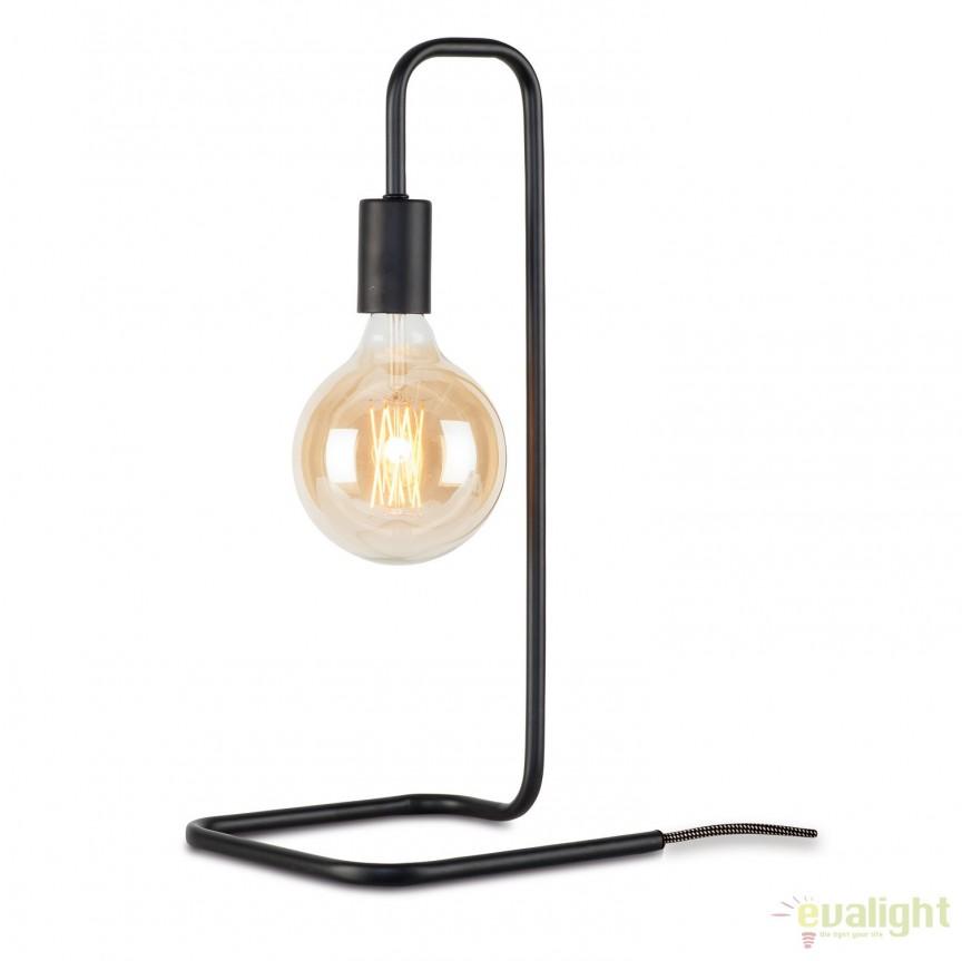 Lampa de masa design modern London negru LONDON/T/B, Magazin,  a