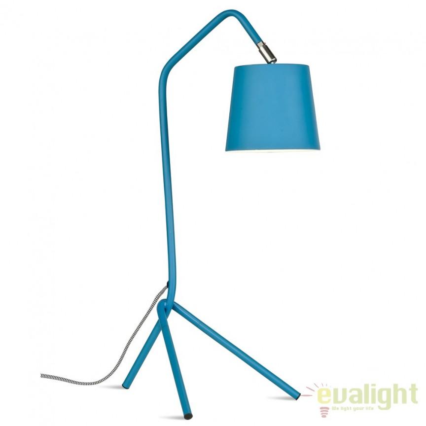 Lampa de masa din metal cu 3 picioare BARCELONA albastru BARCELONA/T/TL, Magazin,  a