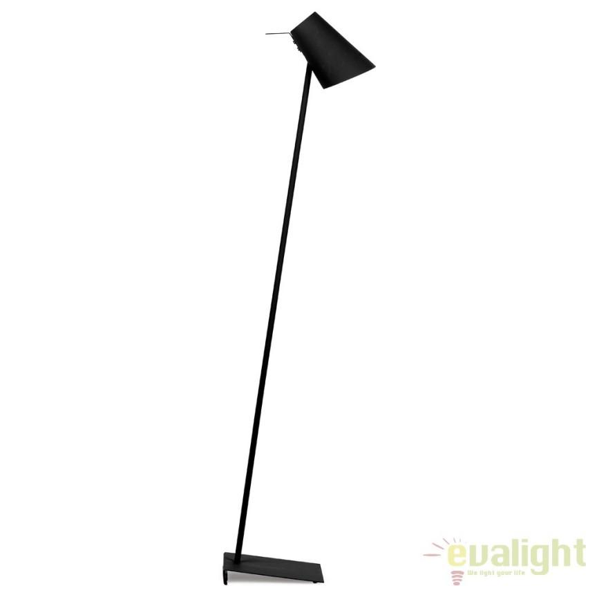 Lampadar modern elegant din metal cauciucat CARDIFF negru CARDIFF/F/B, Magazin,  a