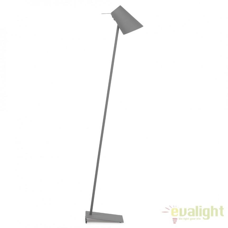 Lampadar modern elegant din metal cauciucat CARDIFF gri CARDIFF/F/DG, Magazin,  a