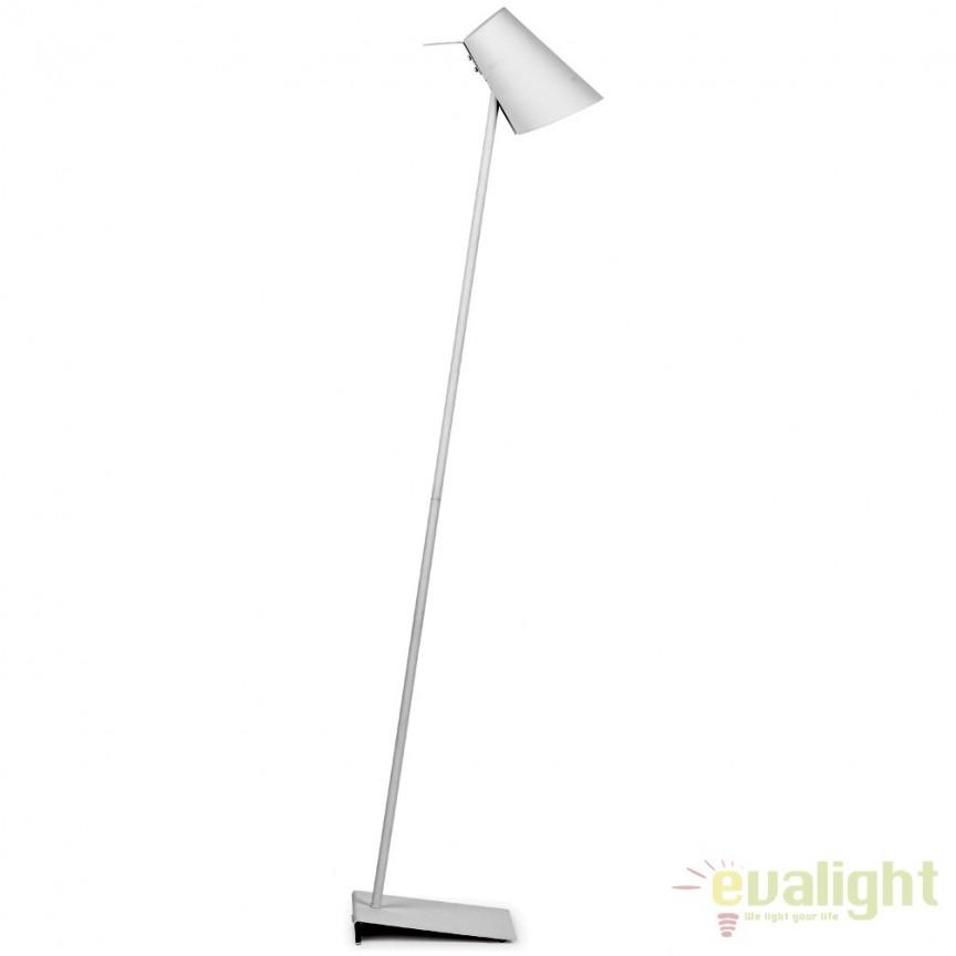 Lampadar modern elegant din metal cauciucat CARDIFF alb CARDIFF/F/W, Magazin,  a
