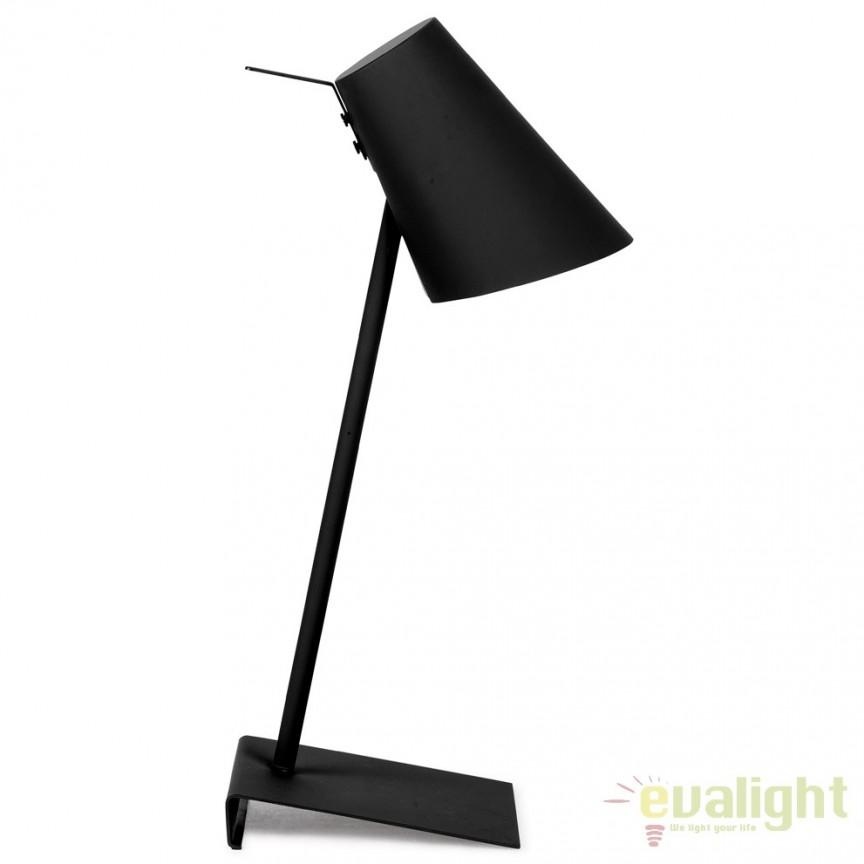 Lampa de masa moderna din metal cauciucat CARDIFF negru CARDIFF/T/B, Magazin,  a
