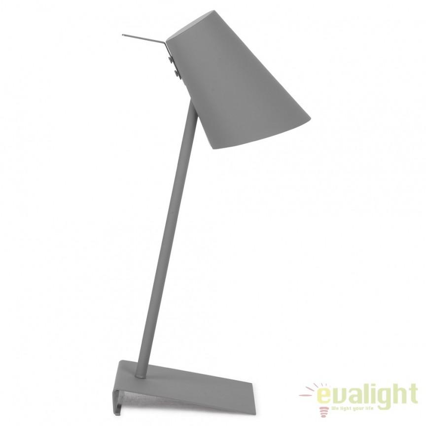 Lampa de masa moderna din metal cauciucat CARDIFF gri CARDIFF/T/DG, Magazin,  a