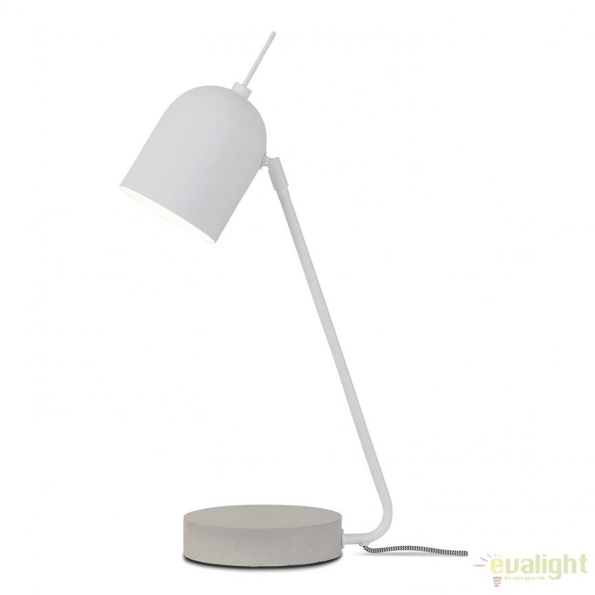 Lampa de masa eleganta cu baza din ciment MADRID alb MADRID/T/W, Magazin,  a