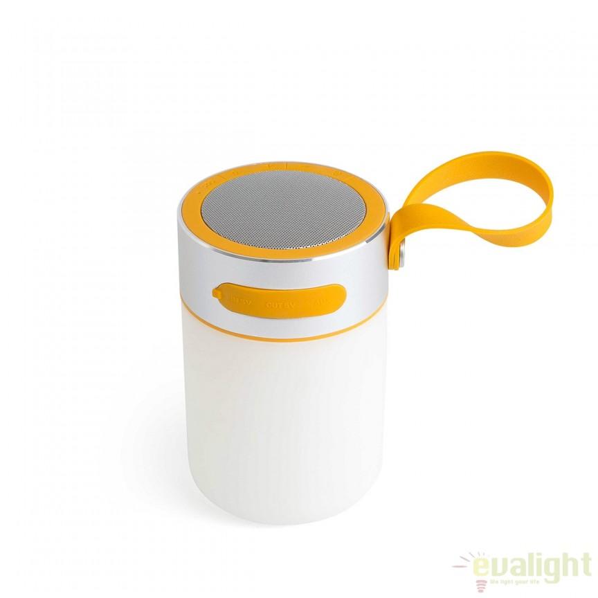 Lampa dimabila LED portabila cu speaker LOUD 70493 Faro Barcelona , Lampi de exterior portabile , Corpuri de iluminat, lustre, aplice, veioze, lampadare, plafoniere. Mobilier si decoratiuni, oglinzi, scaune, fotolii. Oferte speciale iluminat interior si exterior. Livram in toata tara.  a