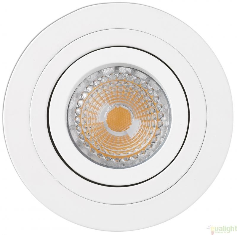 Spot directionabil, incastrabil, alb, diam. 9,2cm RADON-R, 43398 , Cele mai vandute Corpuri de iluminat, lustre, aplice, veioze, lampadare, plafoniere. Mobilier si decoratiuni, oglinzi, scaune, fotolii. Oferte speciale iluminat interior si exterior. Livram in toata tara.  a