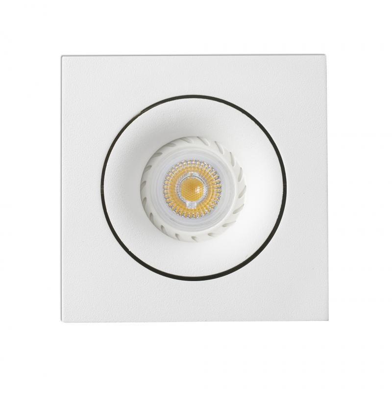 Spot directionabil, incastrabil, alb, dim. 11x11cm ARGON-C, 43402 Faro Barcelona , Spoturi LED incastrate, aplicate, Corpuri de iluminat, lustre, aplice a