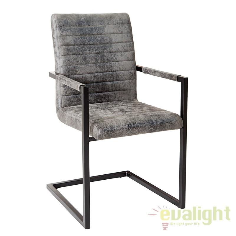 Set de 4 scaune moderne, dining sau birou, Imperial gri vintage/ negru A-37261 VC, Promotii si Reduceri⭐ Oferte ✅Corpuri de iluminat ✅Lustre ✅Mobila ✅Decoratiuni de interior si exterior.⭕Pret redus online➜Lichidari de stoc❗ Magazin ➽ www.evalight.ro. a