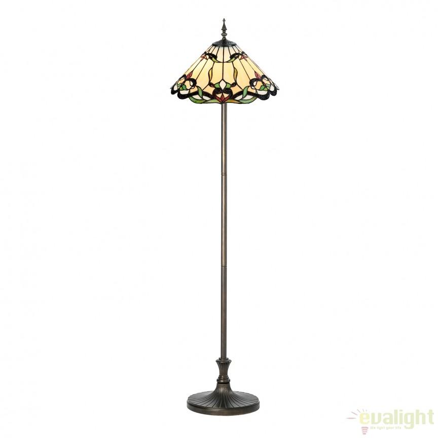 Lampadar / Lampa de podea cu sticla tiffany Classe 945094 SU, Lampadare clasice, Corpuri de iluminat, lustre, aplice, veioze, lampadare, plafoniere. Mobilier si decoratiuni, oglinzi, scaune, fotolii. Oferte speciale iluminat interior si exterior. Livram in toata tara.  a