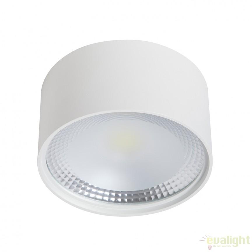 Spot LED aplicat cu protectie IP40 ALPHA round 100818 SU, Spoturi LED incastrate, aplicate, Corpuri de iluminat, lustre, aplice, veioze, lampadare, plafoniere. Mobilier si decoratiuni, oglinzi, scaune, fotolii. Oferte speciale iluminat interior si exterior. Livram in toata tara.  a