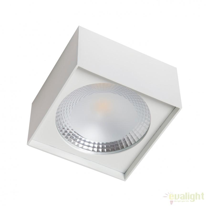 Spot LED aplicat cu protectie IP40 ALPHA square 100819 SU, Spoturi incastrate, aplicate - tavan / perete, Corpuri de iluminat, lustre, aplice, veioze, lampadare, plafoniere. Mobilier si decoratiuni, oglinzi, scaune, fotolii. Oferte speciale iluminat interior si exterior. Livram in toata tara.  a
