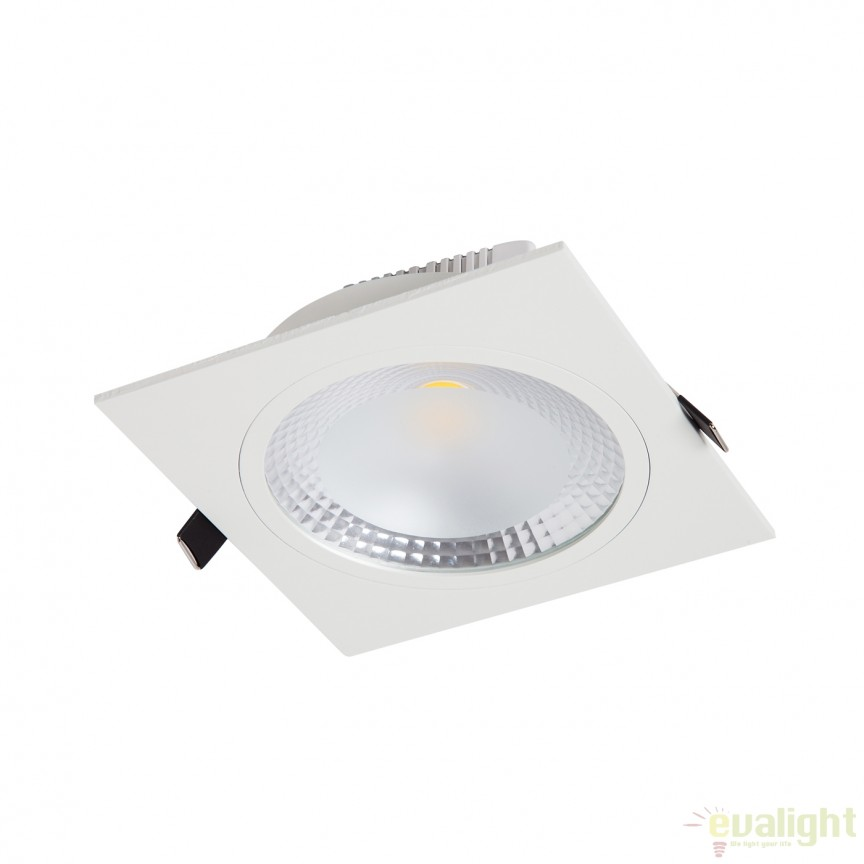 Spot LED incastrabil COBDOWN SQUARE II 15W 100970 SU, Spoturi incastrate, aplicate - tavan / perete, Corpuri de iluminat, lustre, aplice, veioze, lampadare, plafoniere. Mobilier si decoratiuni, oglinzi, scaune, fotolii. Oferte speciale iluminat interior si exterior. Livram in toata tara.  a