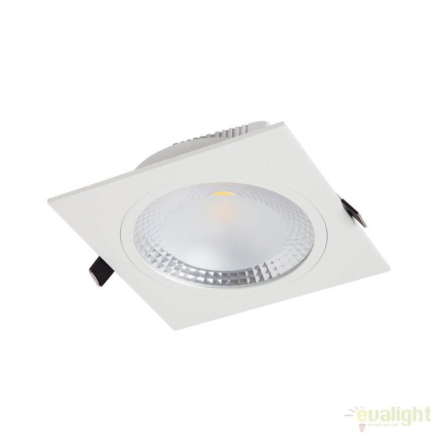Spot LED incastrabil COBDOWN SQUARE II 20W 110974 SU, Spoturi LED incastrate, aplicate, Corpuri de iluminat, lustre, aplice, veioze, lampadare, plafoniere. Mobilier si decoratiuni, oglinzi, scaune, fotolii. Oferte speciale iluminat interior si exterior. Livram in toata tara.  a