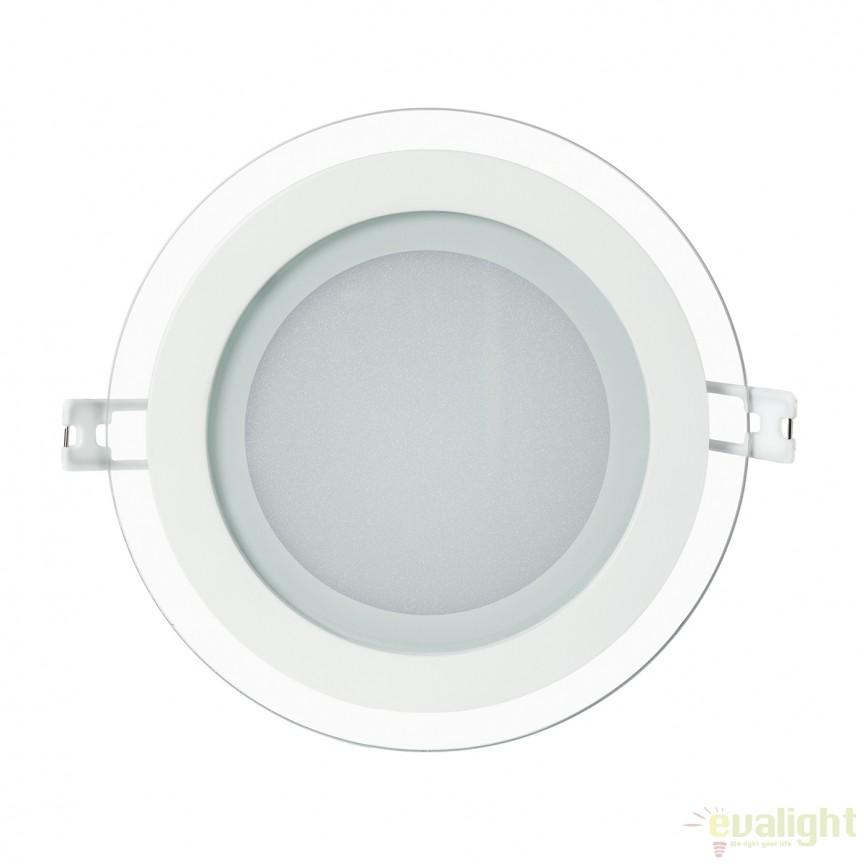 Spot LED incastrabil IP44 HOLE GLAS 12W 101061 SU, Spoturi LED incastrate, aplicate, Corpuri de iluminat, lustre, aplice a