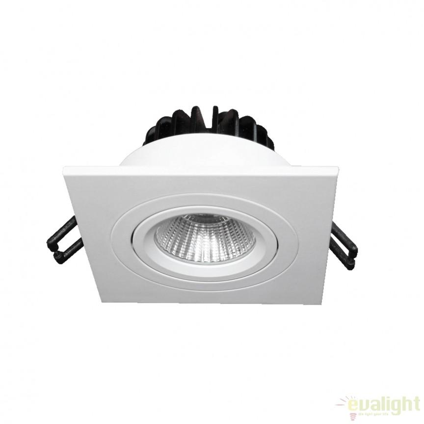 Spot LED incastrabil COBFIX SQUARE 100877 SU, Spoturi LED incastrate, aplicate, Corpuri de iluminat, lustre, aplice, veioze, lampadare, plafoniere. Mobilier si decoratiuni, oglinzi, scaune, fotolii. Oferte speciale iluminat interior si exterior. Livram in toata tara.  a