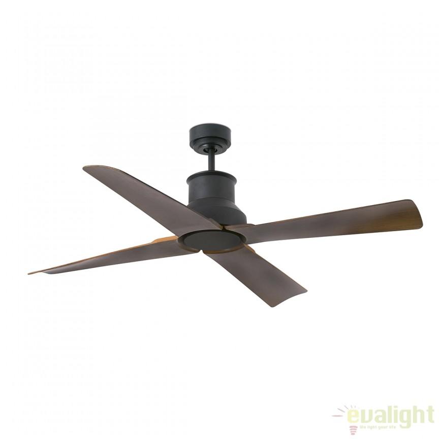 Ventilator cu telecomanda IP44 WINCHE maro 33481 Faro Barcelona, Rezultate cautare, Corpuri de iluminat, lustre, aplice a