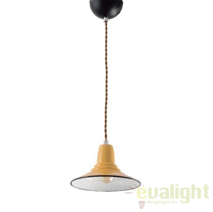 Pendul design Industrial Style NINETTE galben 64163 , PROMOTII, Corpuri de iluminat, lustre, aplice, veioze, lampadare, plafoniere. Mobilier si decoratiuni, oglinzi, scaune, fotolii. Oferte speciale iluminat interior si exterior. Livram in toata tara.  a