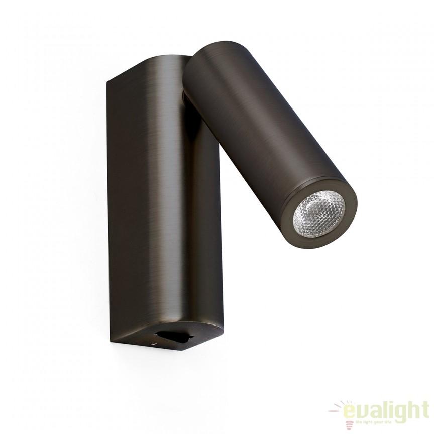 Aplica de perete LED design modern minimalist ROB bronz 68497 , Aplice de perete LED, moderne⭐ modele potrivite pentru dormitor,living,baie,hol,bucatarie.✅Design premium actual Top 2020!❤️Promotii lampi❗ ➽ www.evalight.ro. Alege oferte la corpuri de iluminat cu LED pt tavan interior, (becuri cu leduri si module LED integrate cu lumina calda, naturala sau rece), ieftine si de lux, calitate deosebita la cel mai bun pret.  a
